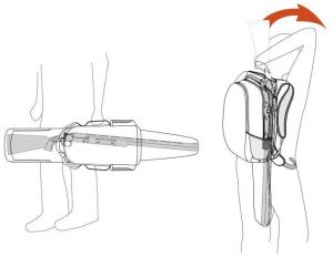 Hillman Holsterpack batoh s pouzdrem na zbraň - 3DX kamufláž