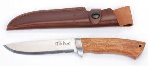 Lovecký nůž, rukojeť tropické dřevo Cocobolo 13 cm