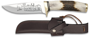 Lovecký nůž s obrázkem jelena 11 cm Martinez Albainox