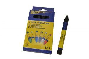 Lesnická křída Bleispitz 12mm,12ks/balení černá
