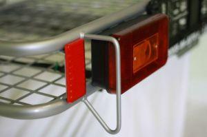 Nosič na auto SUPERIOR s ohrádkou a světly - komaxit - 60 x 120 LKV s.r.o