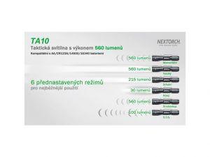 Taktická svítilna malých rozměrů TA10 NexTORCH
