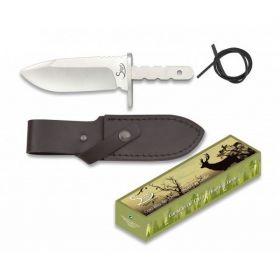 Albainox nůž 32129 - polotovar s pevnou čepelí a pouzdrem