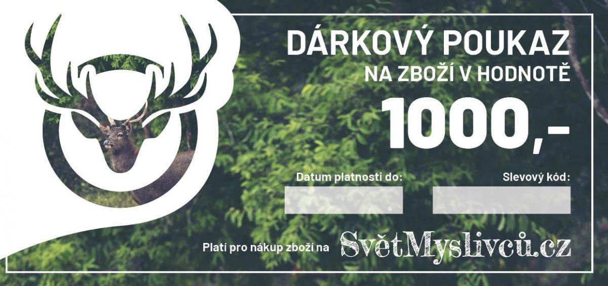 Dárkový poukaz 1000,- SvetMyslivcu.cz