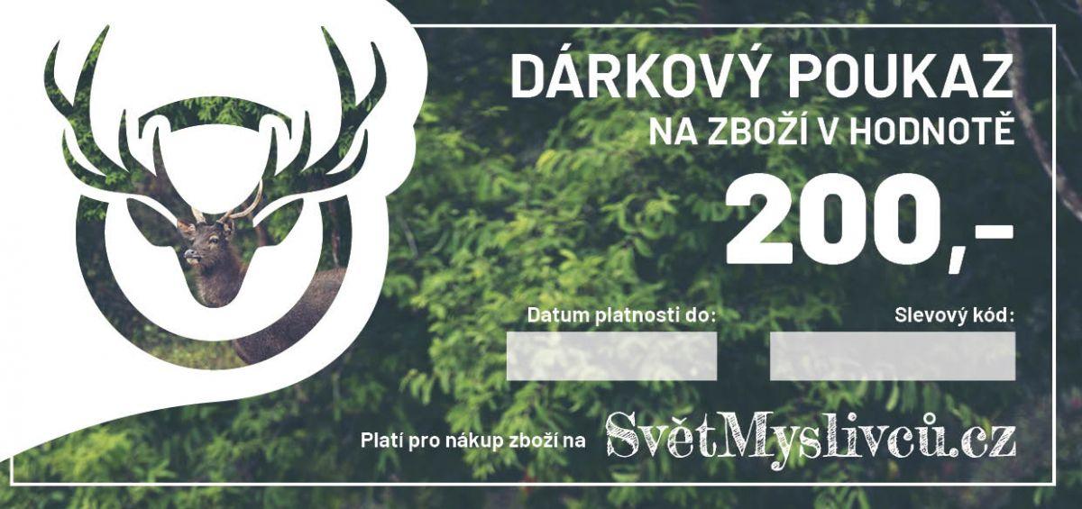 Dárkový poukaz 200,- SvetMyslivcu.cz