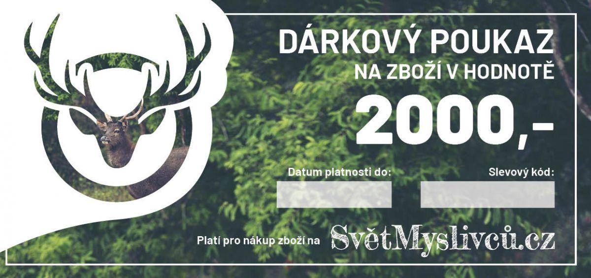 Dárkový poukaz 2000,- SvetMyslivcu.cz