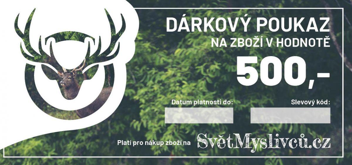 Dárkový poukaz 500,- SvetMyslivcu.cz
