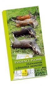Evidence plomb - záznamník uživatele honitby