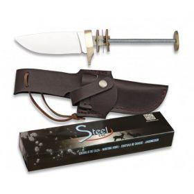 Albainox nůž HUNTING - polotovar s pevnou čepelí a pouzdrem