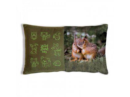 WildZone dětský polštář veverky