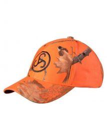 Čepice Sauer - oranžová, maskáčová kšiltovka s logem Sauer (Camo-Cap orange)