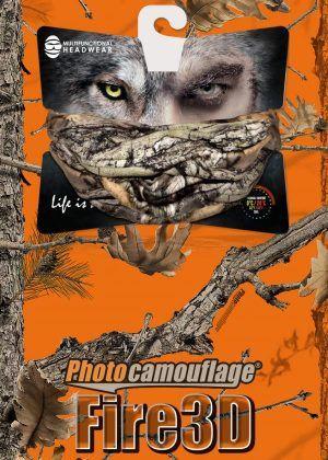 Multifunkční šátek Hillman - 3DX-G Kamufláž oranžová