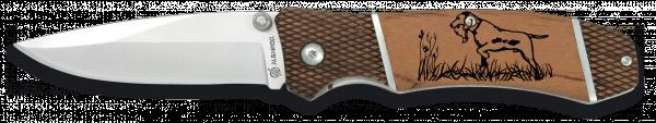 Lovecký nůž skládací s motivem psa Martinez Albainox