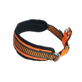 Reflexní obojek oranžový - vyztužený - WILD