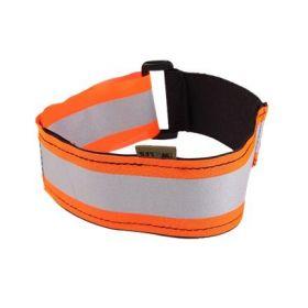 Reflexní obojek pro psa - oranžový - natahovací