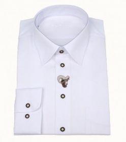 Košile společenská - bílá s výšivkou