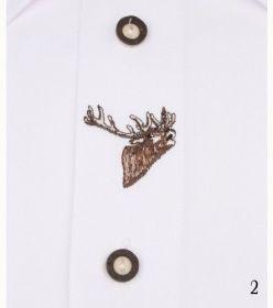 AFARS Košile společenská - bílá s výšivkou