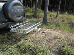 Nosič na auto STANDARD s ohrádkou - zinek - 60 x 120 LKV s.r.o