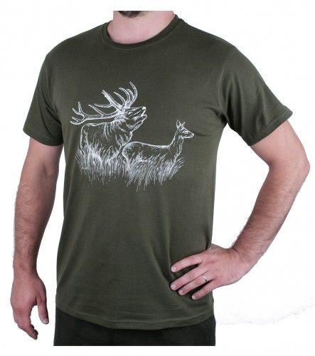 AFARS Myslivecké tričko jelen a laň