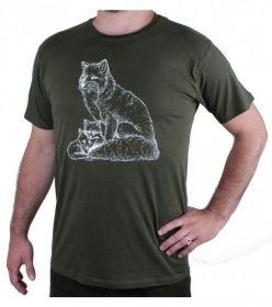 Myslivecké tričko lišky