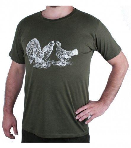 AFARS Myslivecké tričko tok tetřevů