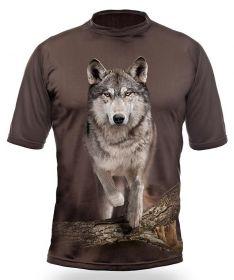 Hillman Myslivecké tričko kr. rukáv Vlk 3D - dub