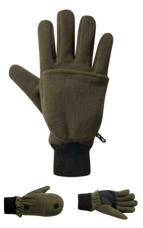 Lovecké rukavice Elutex fleece s krytkou prstů