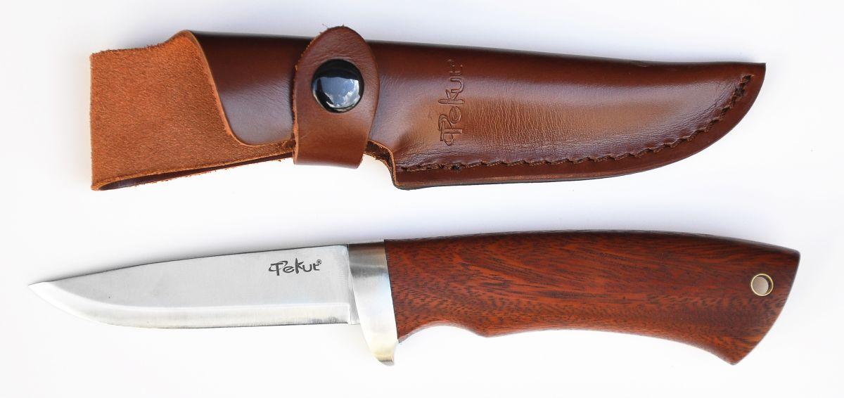 Lovecký nůž, rukojeť tropické dřevo Cocobolo 9 cm Tekut