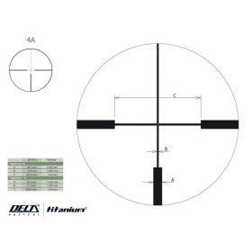 Puškohled Delta Optical Titanium 2,5-10x50 HD