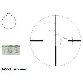 Puškohled Delta Optical Titanium 2,5-16x50SF 2D