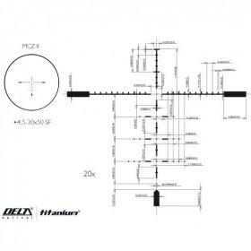 Puškohled Delta Optical Titanium 4,5-30x50SF MCZ II