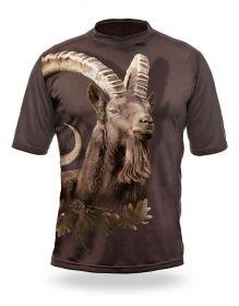 Hillman Myslivecké tričko kr. rukáv Kozorožec 3D - dub