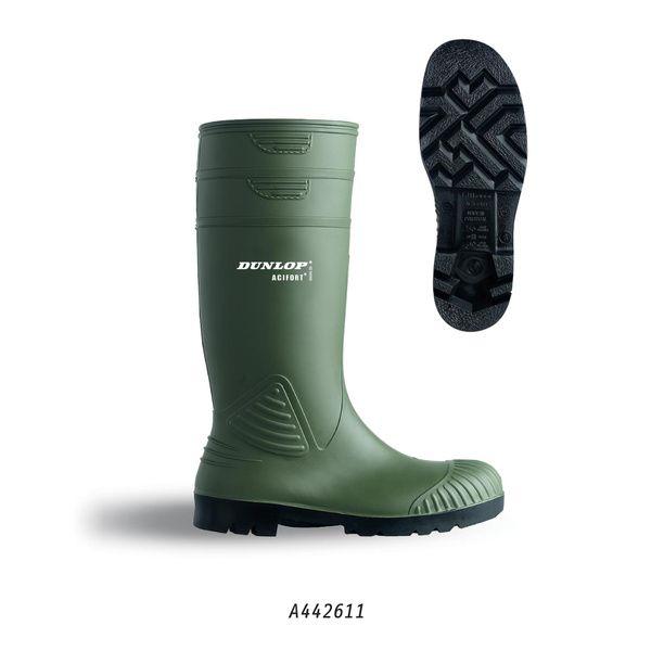 Dunlop bezpečnostní holínky ACIFORT HD S5, zelené