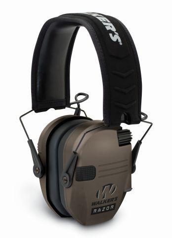 Elektronická sluchátka Walker's Razor Slim Shooter - Dark Earth (hnědé) GSM Outdoors