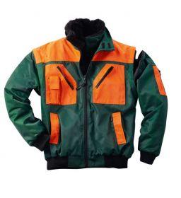 Bunda PILOT NEVADA zeleno-oranžová