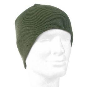 Čepice BEANIE pletená POLYACRYL zelená