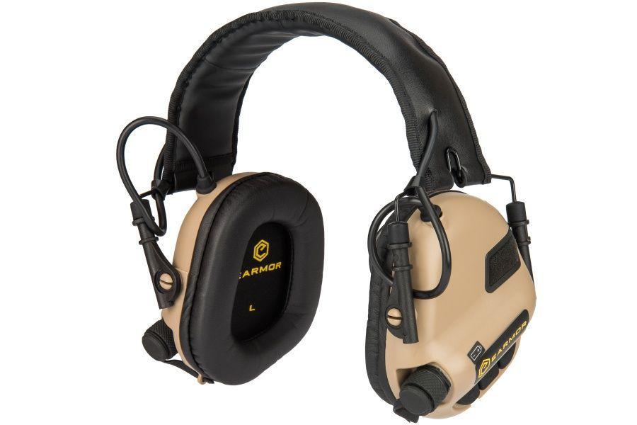 Elektronická sluchátka EARMOR M31 MOD3 COYOTE BROWN