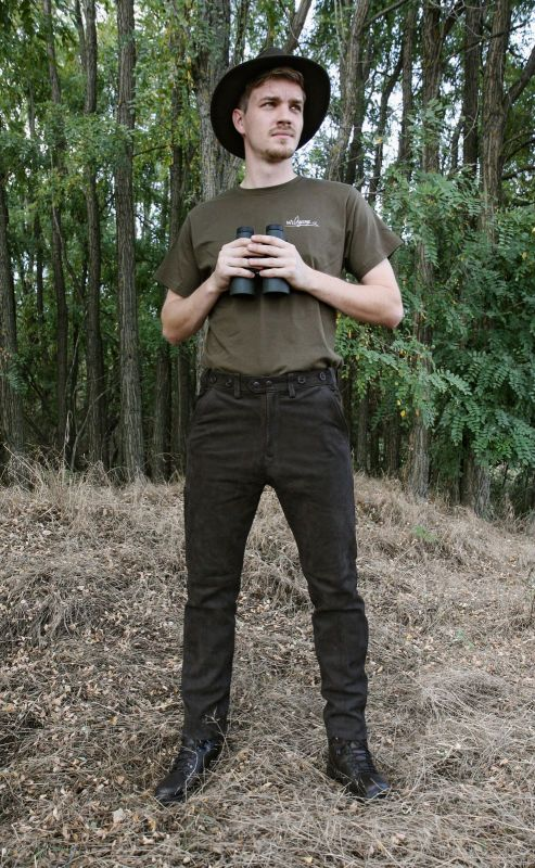 Kalhoty kožené hnědé Rabenau Braun Carl Mayer 1e5f97e80a