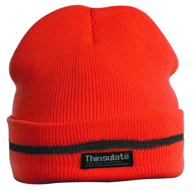 Pletená čepice TURIA oranžová reflexní CERVA