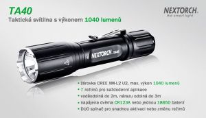 Taktická svítilna na zbraň TA40 SET Magnetic - lovecký set NexTORCH