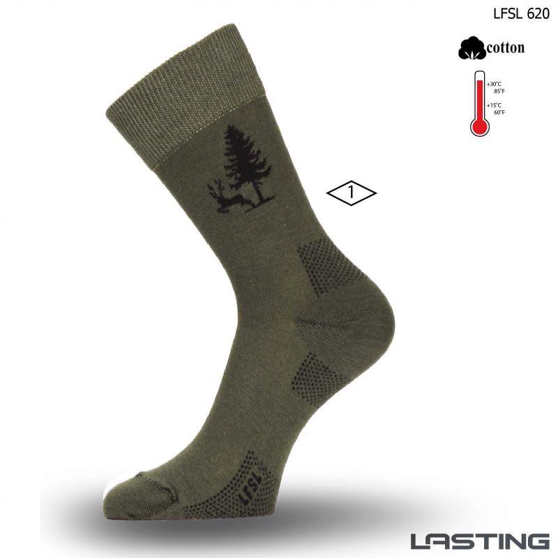 Lasting bavlněné ponožky LFSL zelené Lasting Sport s.r.o.