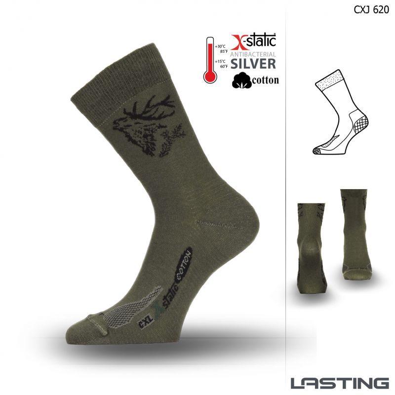 Lasting funkční ponožky CXJ zelené Lasting Sport s.r.o.