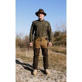 Kalhoty kožené zeleno-hnědé Ramsau