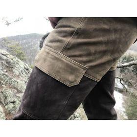 Kalhoty kožené zeleno-hnědé Ramsau Carl Mayer