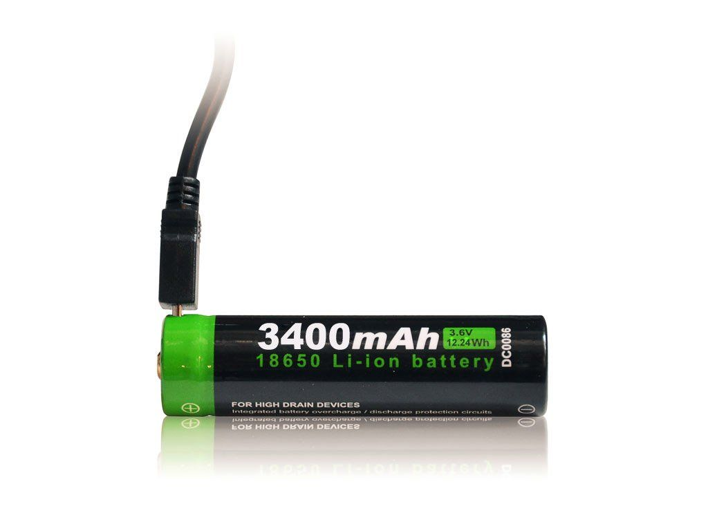 Nabíjecí Li-Ion baterie NT18650 s USB NexTORCH