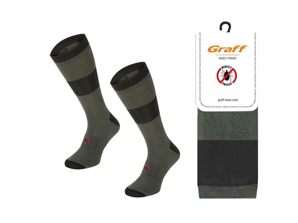 Ponožky myslivecké s repelentem 057 zelené GRAFF