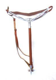 Sedací hůl teleskopická hnědá GooDFellow