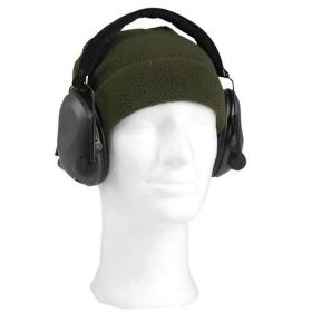 Sluchátka elektronická ACTIV proti hluku ČERNÁ MIL-TEC®